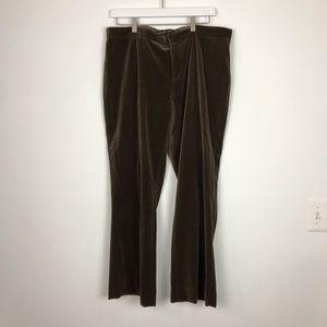 Ralph Lauren Purple Label Velour Pants Size 12